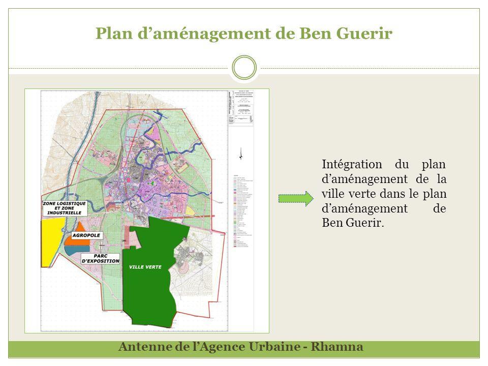 Plan daménagement de Ben Guerir Intégration du plan daménagement de la ville verte dans le plan daménagement de Ben Guerir.
