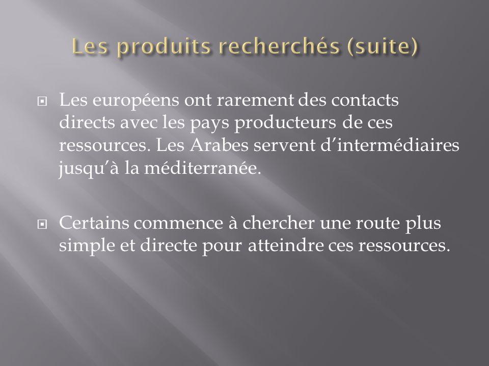 Les européens ont rarement des contacts directs avec les pays producteurs de ces ressources.