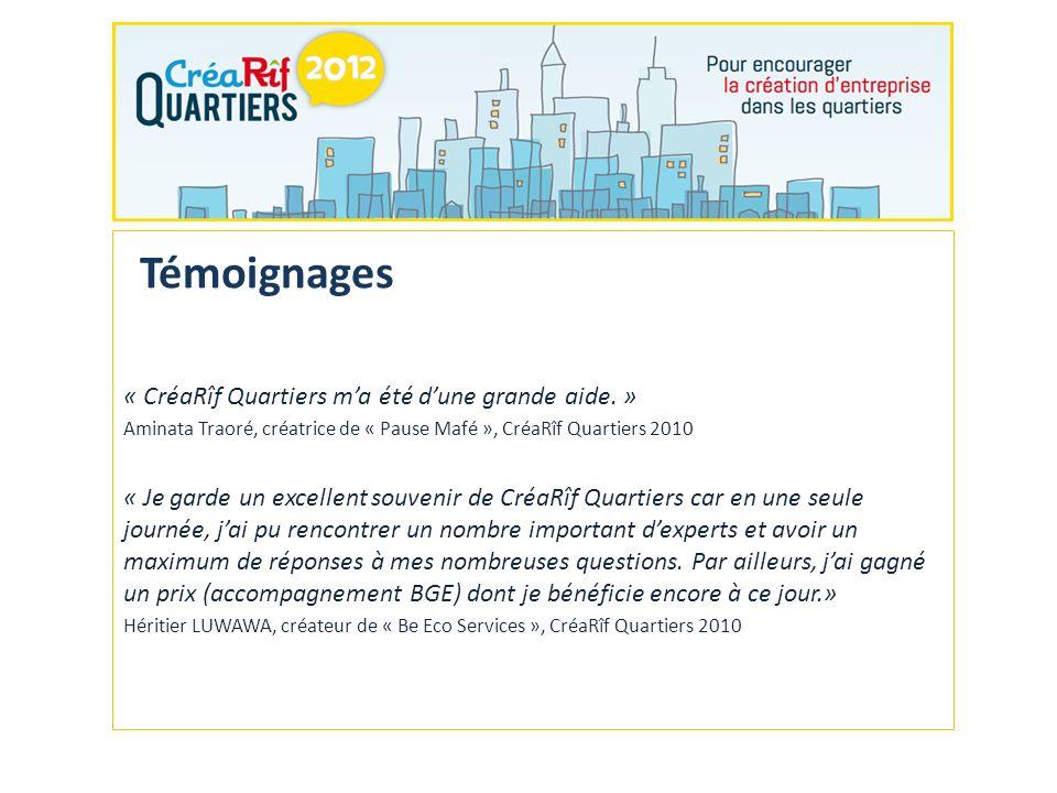 Inscriptions sur le site Internet www.crearif-quartiers.fr avant le 15 novembre 2012.