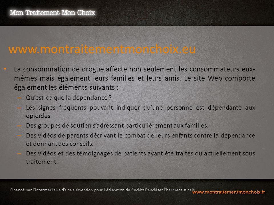 Financé par lintermédiaire dune subvention pour léducation de Reckitt Benckiser Pharmaceuticals.