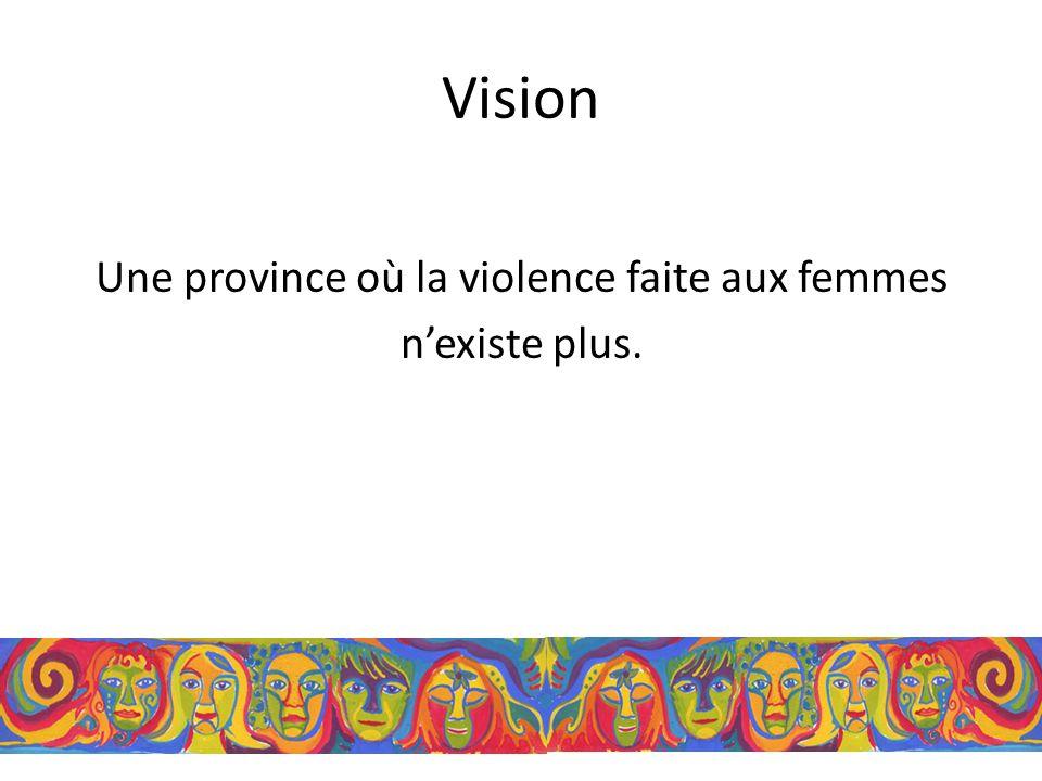 Vision Une province où la violence faite aux femmes nexiste plus.