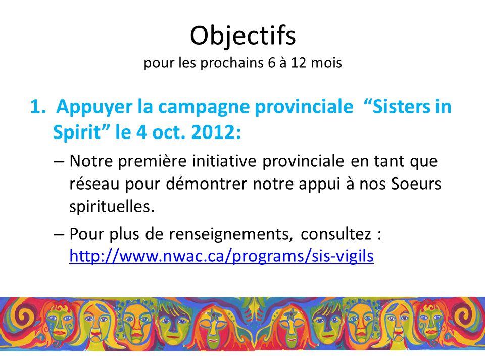 Sisters in Spirit Il faut être sensible à la façon dont les CCVF vont démontrer leur appui.