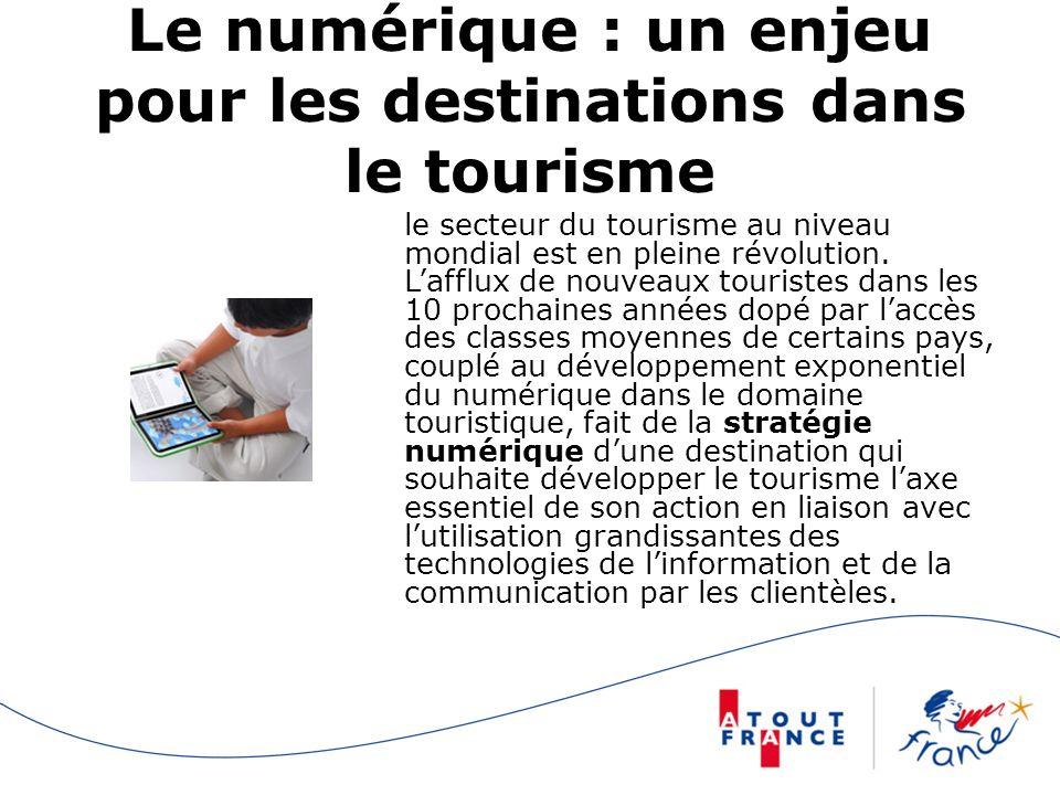Le numérique : un enjeu pour les destinations dans le tourisme le secteur du tourisme au niveau mondial est en pleine révolution.