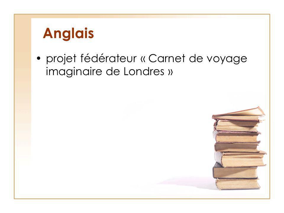 Anglais projet fédérateur « Carnet de voyage imaginaire de Londres »