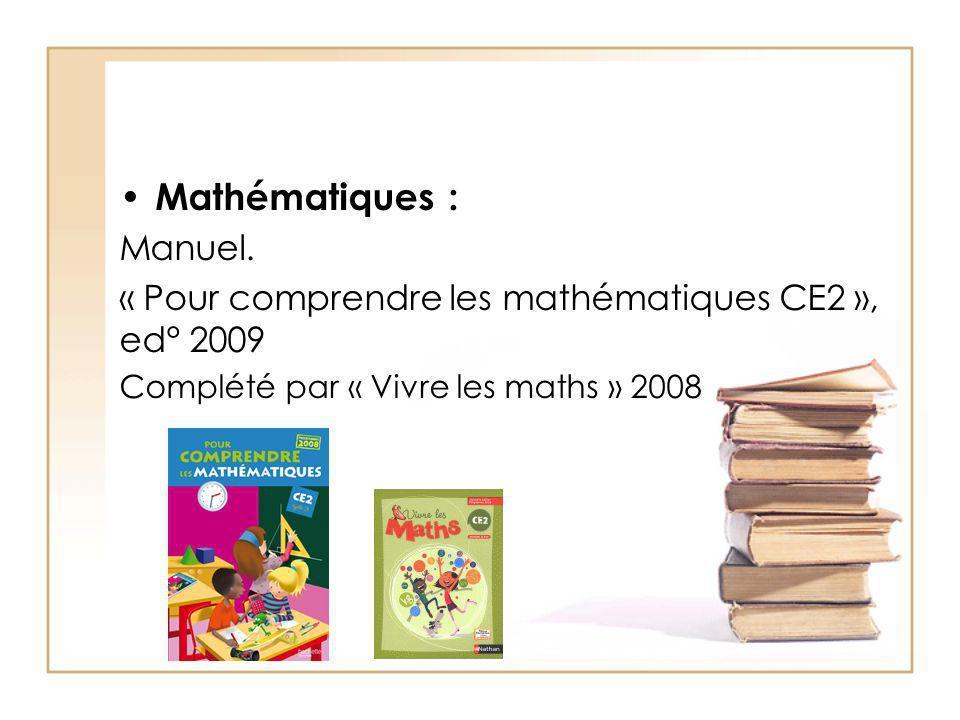 Mathématiques : Manuel.