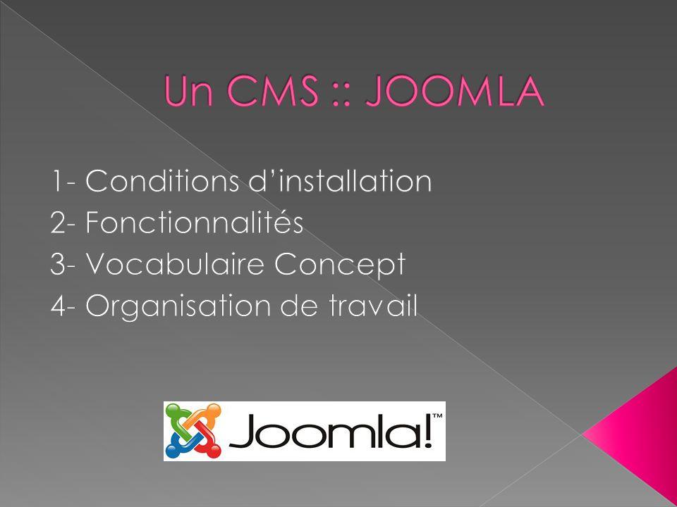Une assistance à linstallation Section tutoriels Section connaissances de base Section documentation Joomla pour les nuls Une interface dinstallation assistée