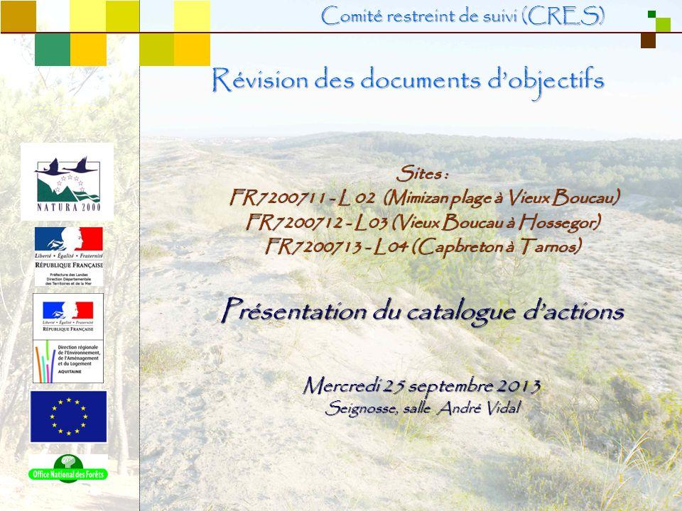 1 Sites : FR7200711 - L 02 (Mimizan plage à Vieux Boucau) FR7200711 - L 02 (Mimizan plage à Vieux Boucau) FR7200712 - L03 (Vieux Boucau à Hossegor) FR