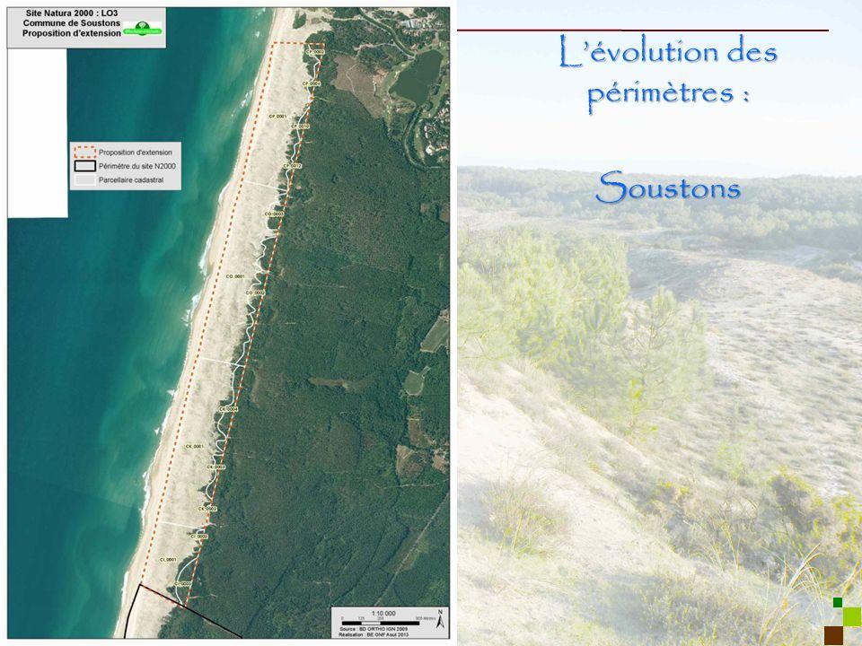 3 Lévolution des périmètres : Soustons