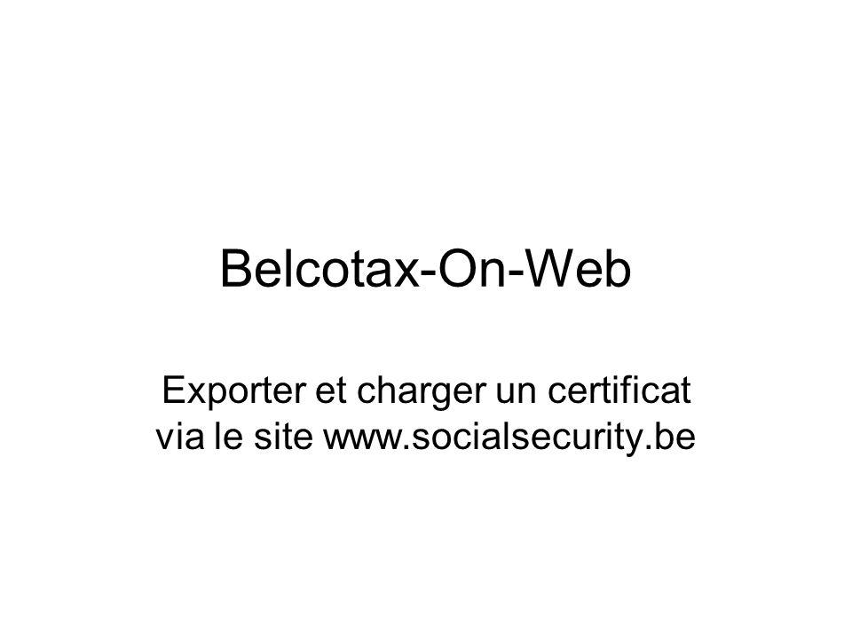 Exporter un certificat Cliquez sur sannoncer pour vous connecter à une session sécurisée via votre identifiant et votre mot de passe pour la sécurité sociale.