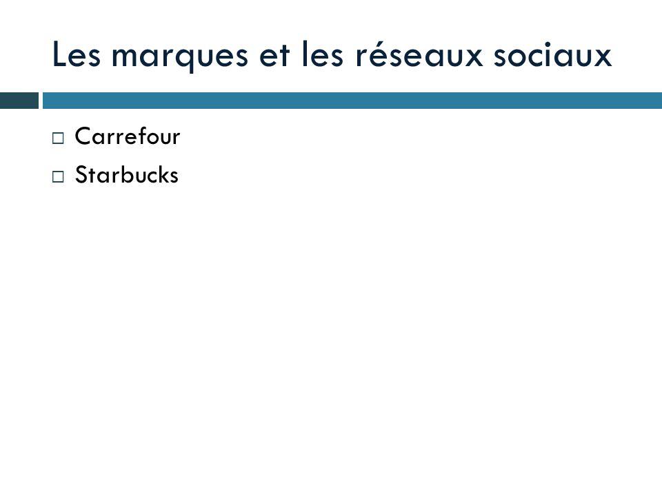 Les marques et les réseaux sociaux Carrefour Starbucks