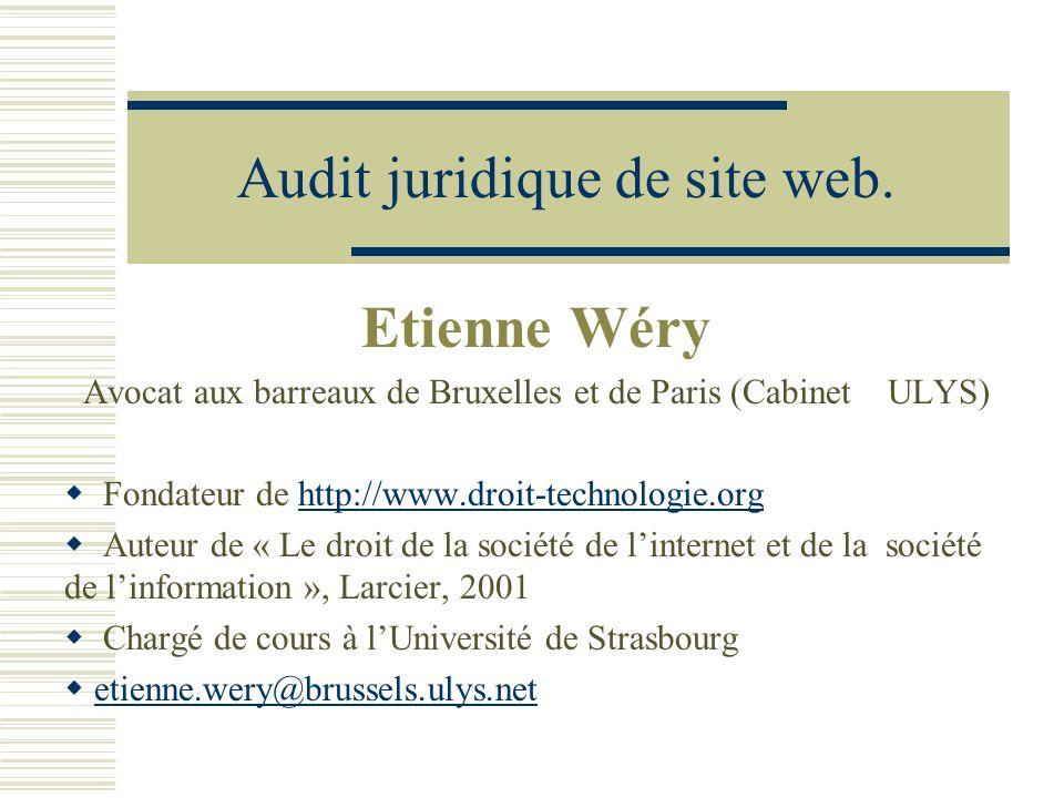 Audit juridique de site web.