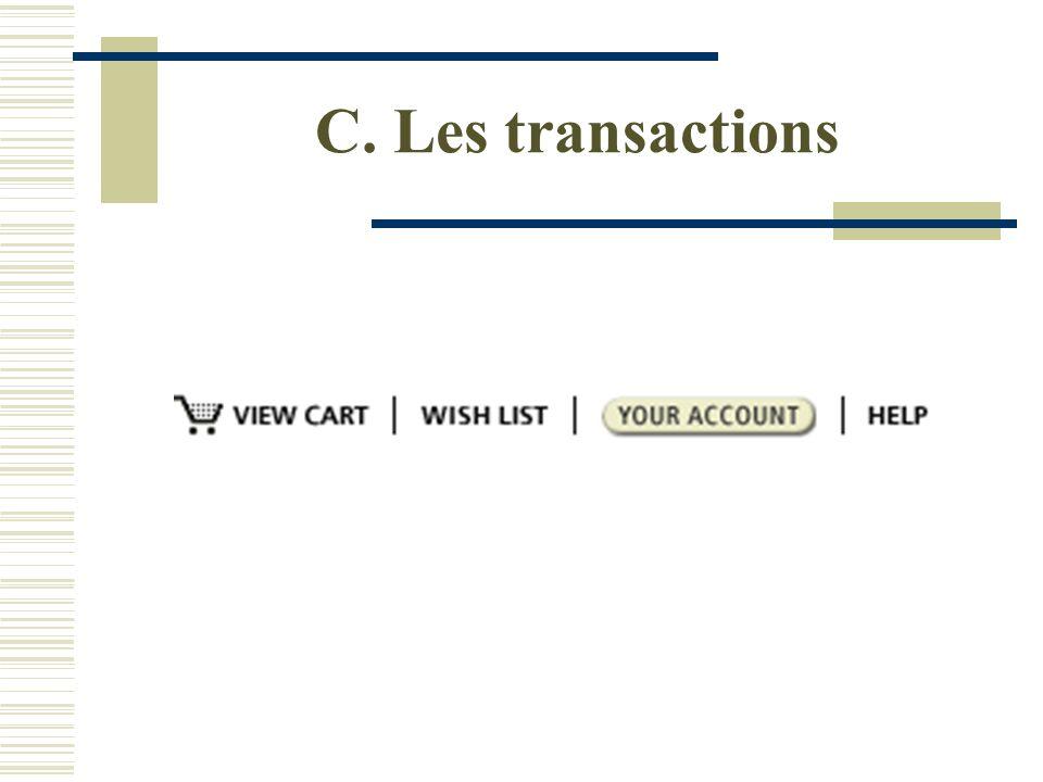 C. Les transactions