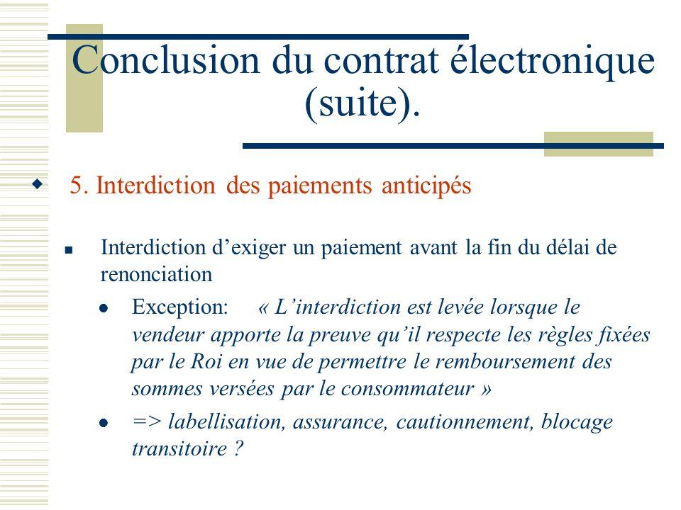 Conclusion du contrat électronique (suite).5.