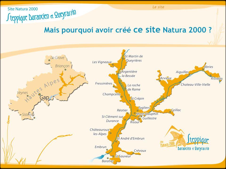 Le site Mais pourquoi avoir créé ce site Natura 2000 ?