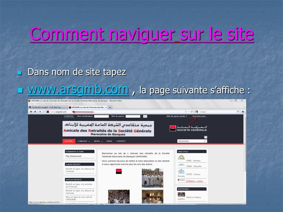Contenu du site On va voir en détail tous les blocs du site.