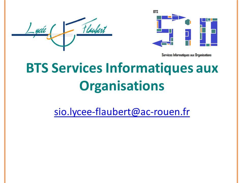 BTS Services Informatiques aux Organisations sio.lycee-flaubert@ac-rouen.fr