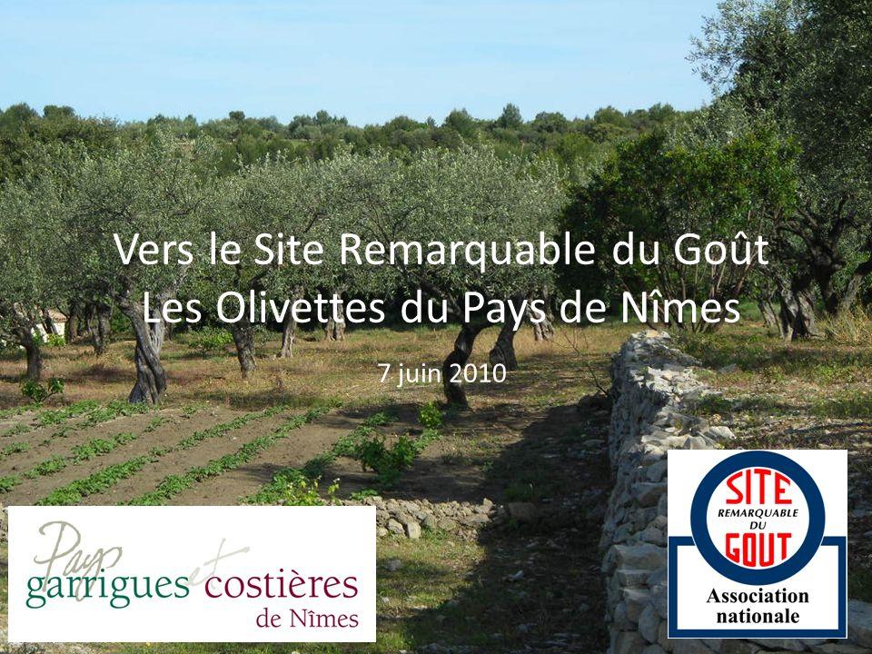 Vers le Site Remarquable du Goût Les Olivettes du Pays de Nîmes 7 juin 2010