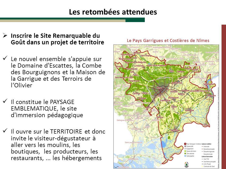 Inscrire le Site Remarquable du Goût dans un projet de territoire Le nouvel ensemble s'appuie sur le Domaine d'Escattes, la Combe des Bourguignons et