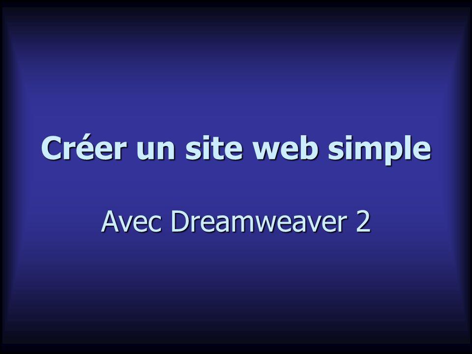 Créer un site web simple Avec Dreamweaver 2