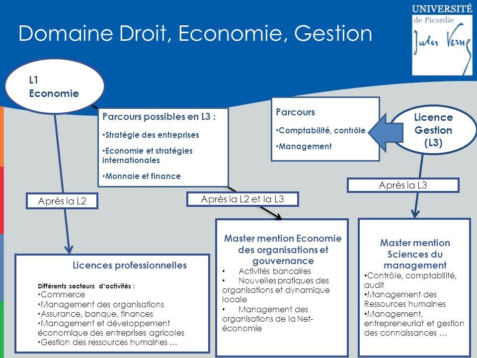L1 Economie Master mention Economie des organisations et gouvernance Activités bancaires Nouvelles pratiques des organisations et dynamique locale Man