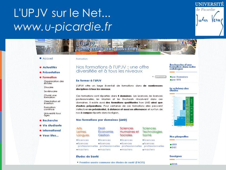 L'UPJV sur le Net... www.u-picardie.fr