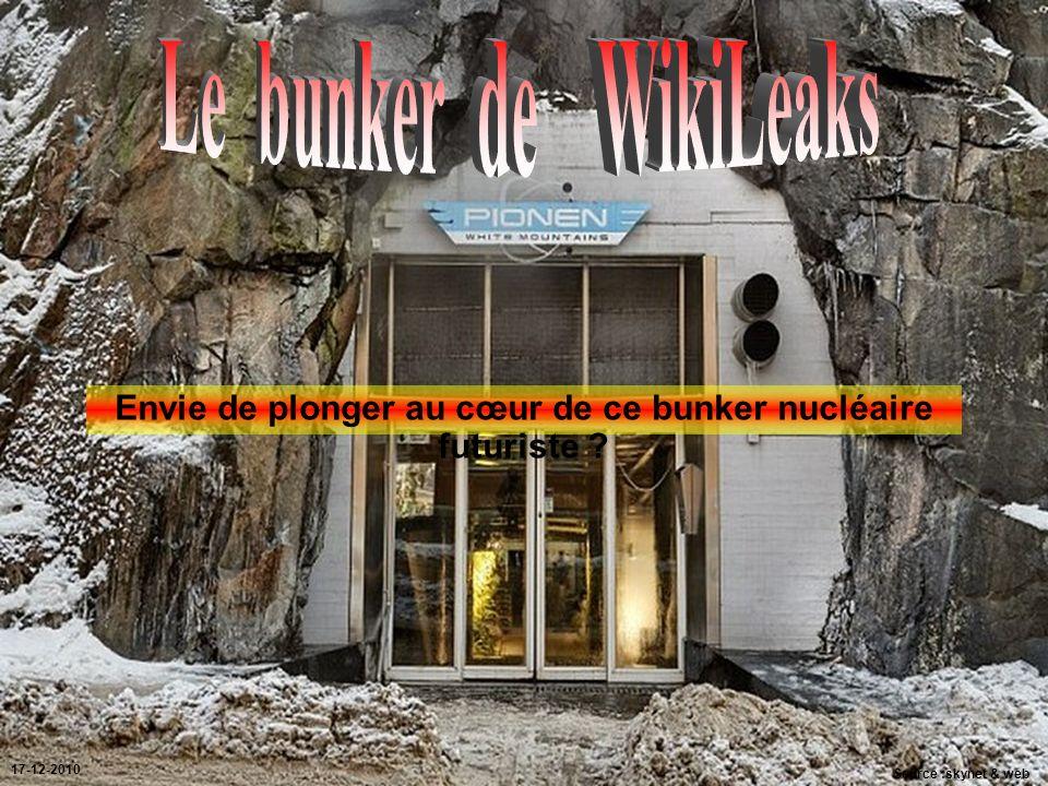Envie de plonger au cœur de ce bunker nucléaire futuriste ? Source :skynet & web 17-12-2010