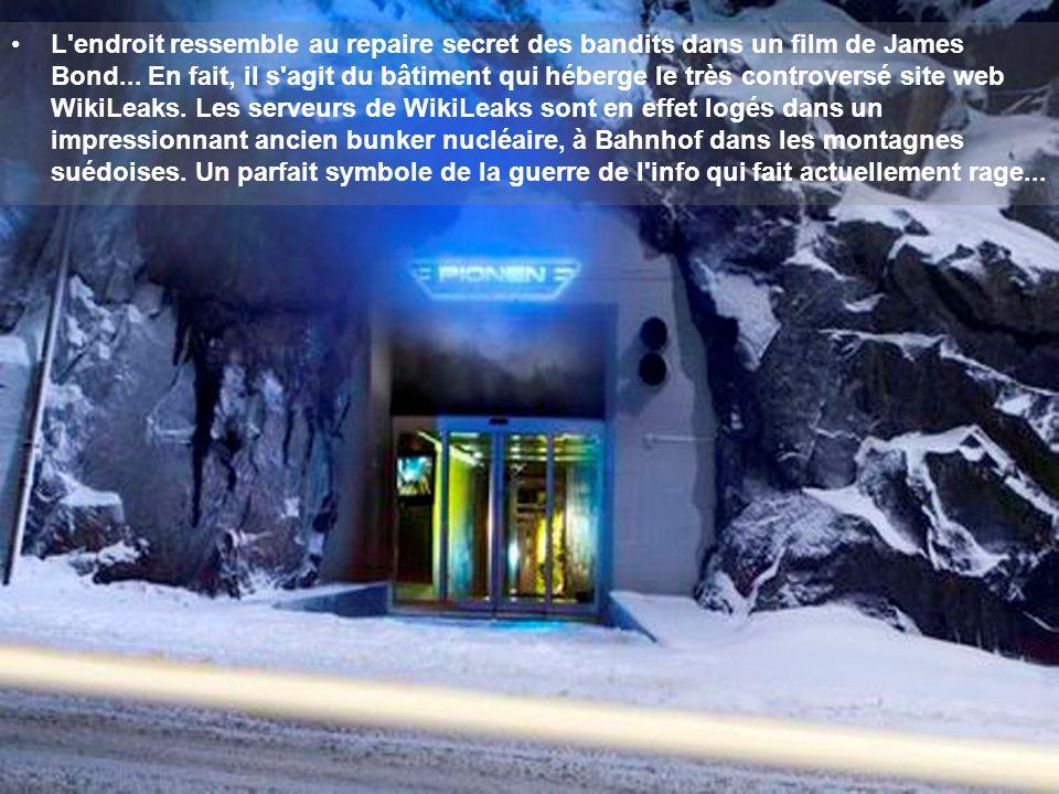L'endroit ressemble au repaire secret des bandits dans un film de James Bond... En fait, il s'agit du bâtiment qui héberge le très controversé site we