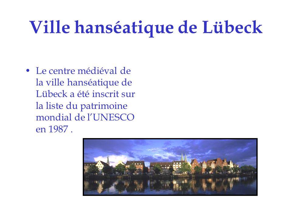 Villes historiques de Stralsund et Wismar Les villes historiques de Stralsund et Wismar ont été inscrites sur la liste du patrimoine mondial de lUNESCO en 2002
