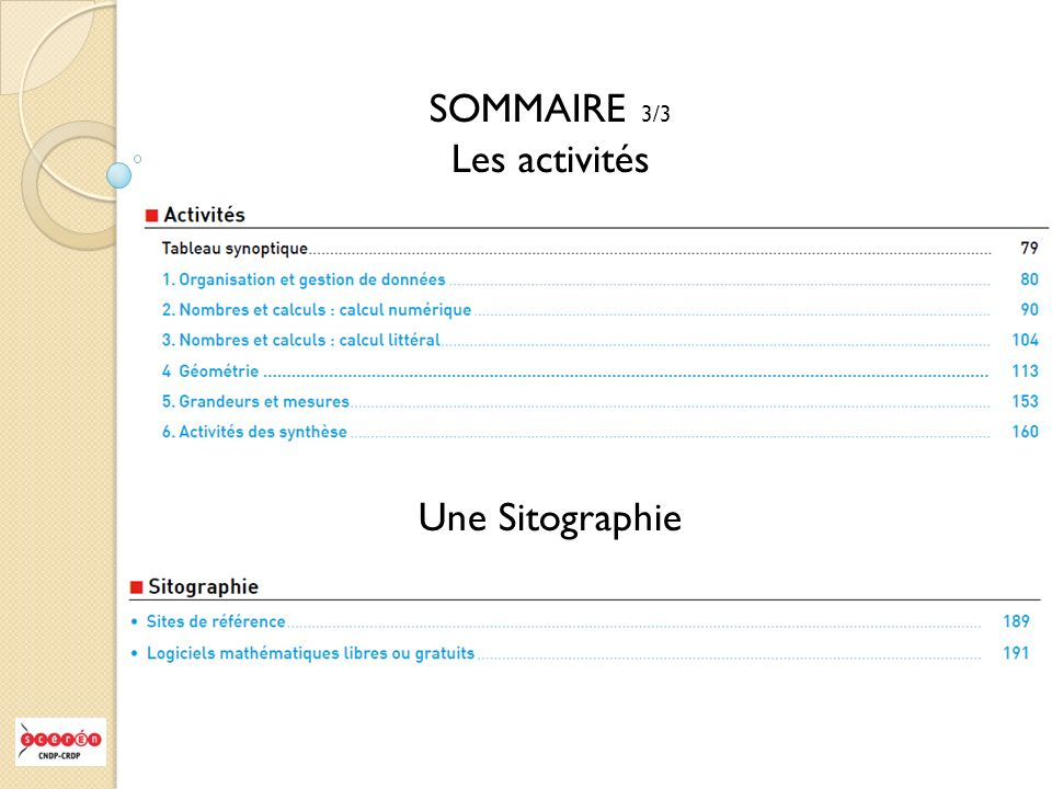 Des documents accessibles sur le site du CRDP.