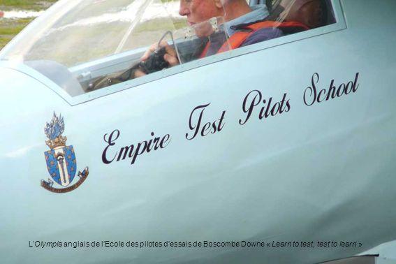 LOlympia anglais de lEcole des pilotes dessais de Boscombe Downe « Learn to test, test to learn »