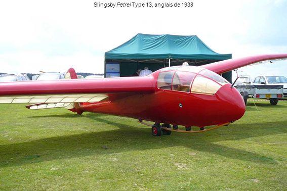 Slingsby Petrel Type 13, anglais de 1938