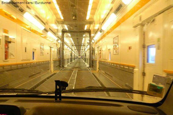 Embarquement dans lEurotunnel