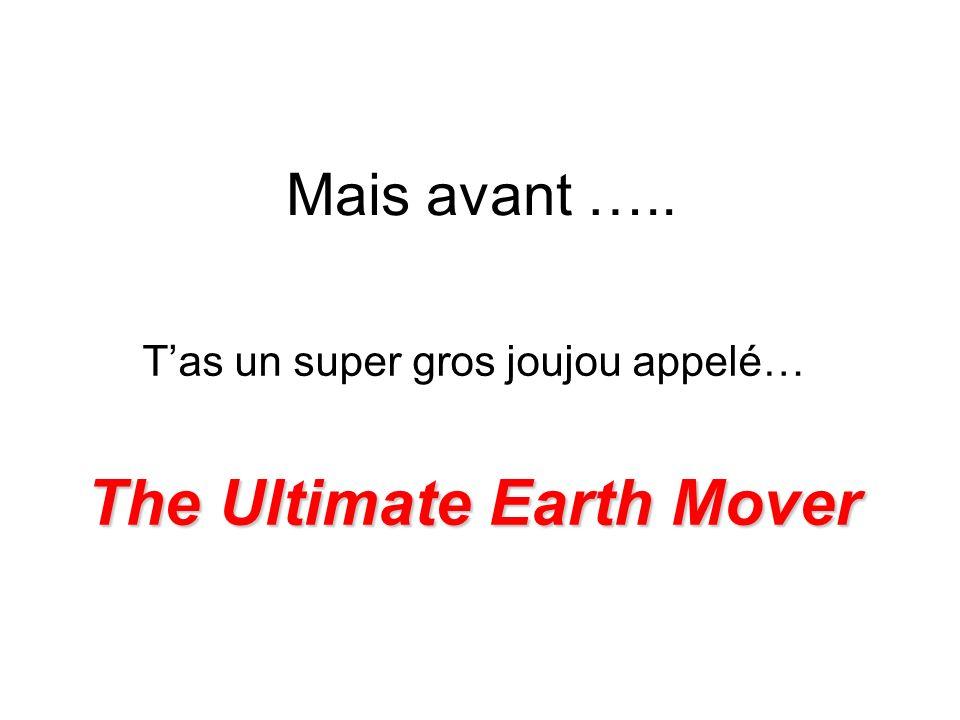 Ultimate Earth Mover Cest la plus grande machine du monde… Construit par la compagnie allemande Krupp, et vue traversant une autoroute fédérale en Allemagne, à destination dune mine à ciel ouvert.