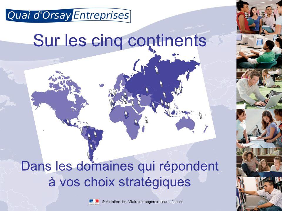 © Ministère des Affaires étrangères et européennes Sur les cinq continents Dans les domaines qui répondent à vos choix stratégiques
