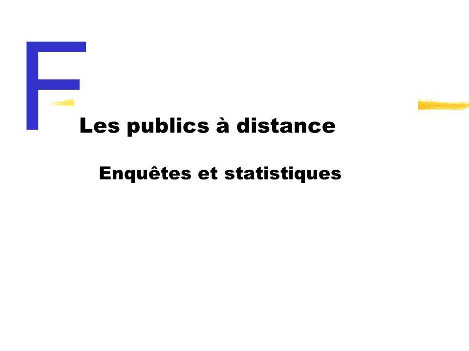 Enquêtes et statistiques Les publics à distance F
