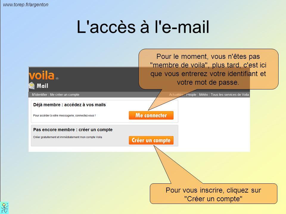 www.torep.fr/argenton Le site de www.voila.frwww.voila.fr Après ouverture du navigateur Internet, aller sur le site : www.voila.fr Puis cliquez sur l'