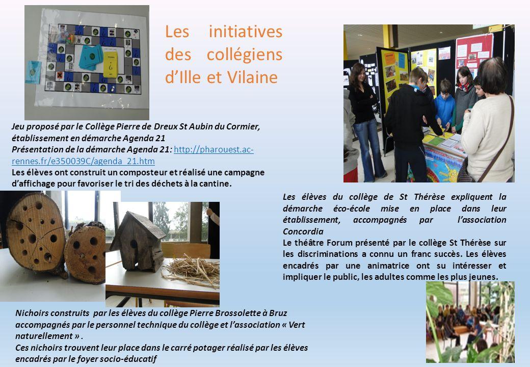 Jeu proposé par le Collège Pierre de Dreux St Aubin du Cormier, établissement en démarche Agenda 21 Présentation de la démarche Agenda 21: http://phar