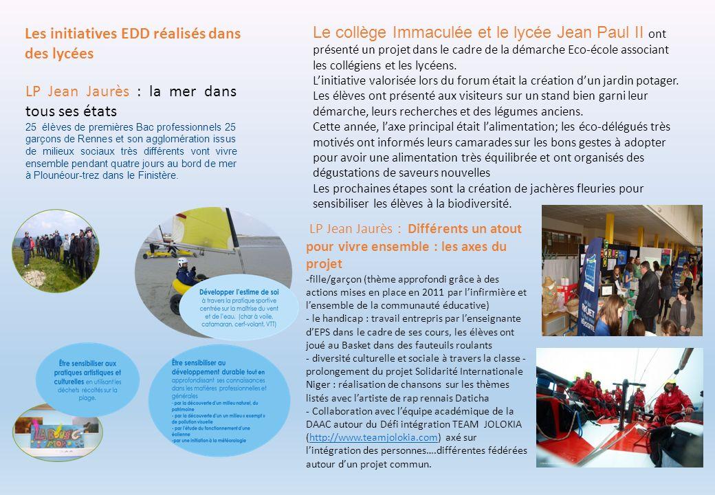 Le collège Immaculée et le lycée Jean Paul II ont présenté un projet dans le cadre de la démarche Eco-école associant les collégiens et les lycéens. L