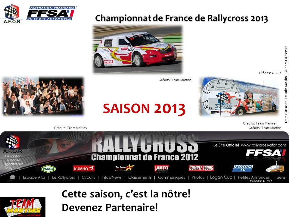 Championnat de France de Rallycross 2013 Cette saison, cest la nôtre ! Devenez Partenaire ! SAISON 2013 Crédits: Team Martins Crédits: AFOR Crédits: T