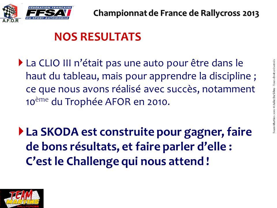 10 courses par an Championnat de France de Rallycross 2013 Team Martins 2011- © Julie Da Silva - Tous droits réservés