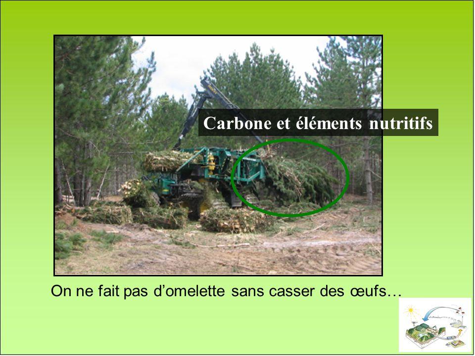 Carbone et éléments nutritifs On ne fait pas domelette sans casser des œufs…