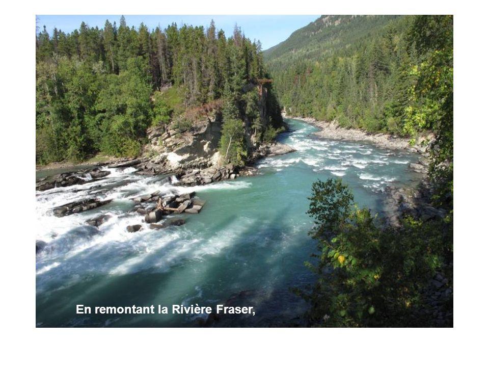 En remontant la Rivière Fraser,