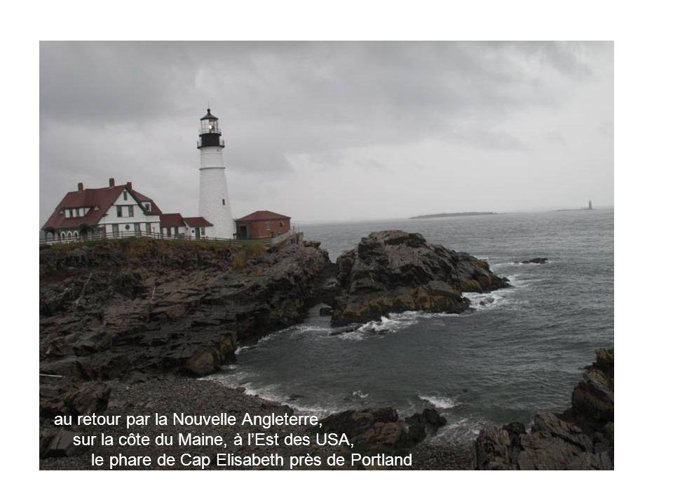 au retour par la Nouvelle Angleterre, sur la côte du Maine, à lEst des USA, le phare de Cap Elisabeth près de Portland