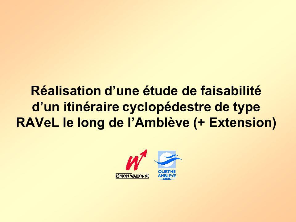 Réalisation dune étude de faisabilité dun itinéraire cyclopédestre de type RAVeL le long de lAmblève (+ Extension)
