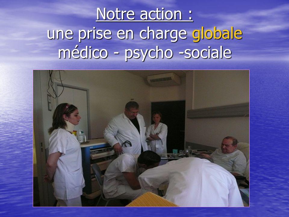 Notre action : une prise en charge globale médico - psycho -sociale