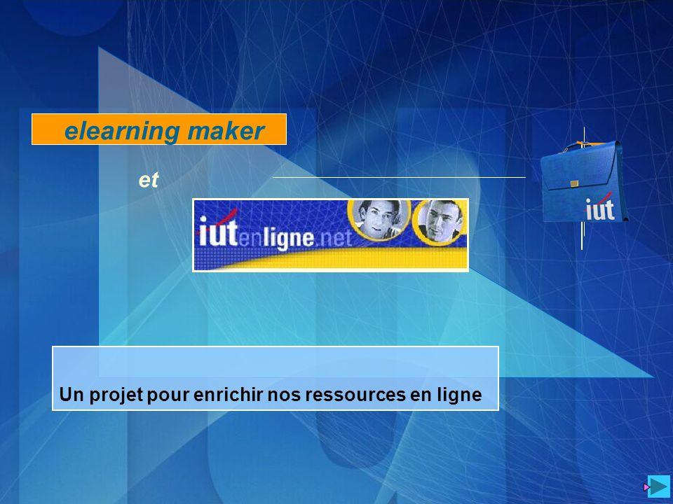 Un projet pour enrichir nos ressources en ligne elearning maker et