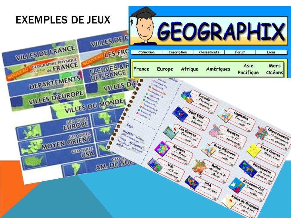 EXEMPLES DE JEUX