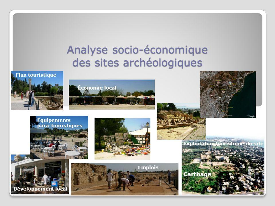 Analyse socio-économique des sites archéologiques Flux touristique Emplois Économie local Carthage Équipements para-touristiques Développement local Exploitation touristique du site
