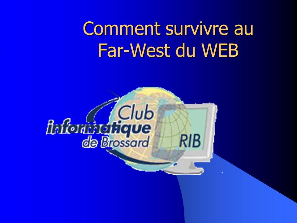 16 octobre 2008 Club d Informatique de Brossard 2 Introduction Problèmes de sécurité relatifs au WEB Quels risques représentent-ils.