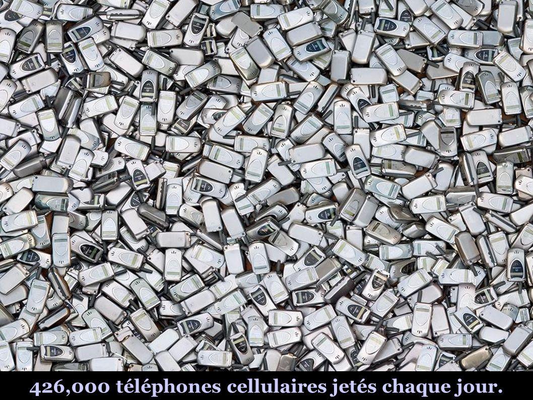 426,000 téléphones cellulaires jetés chaque jour.